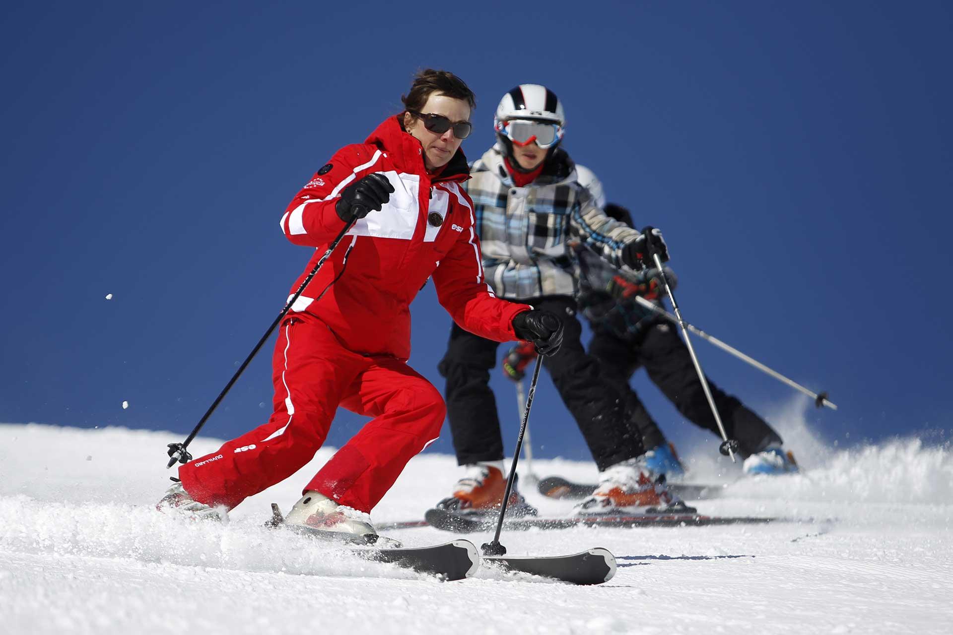 cours de ski privés avec l'esf de la vallée de munster