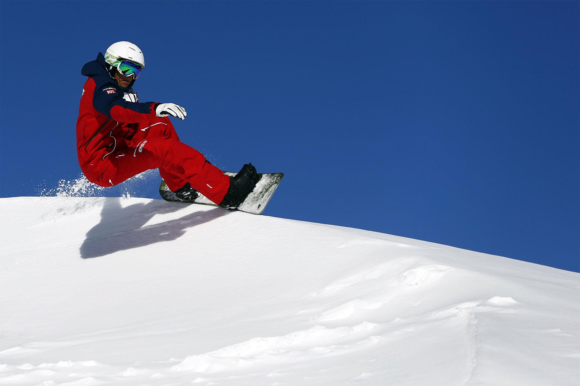 snowboard en solitaire hors piste