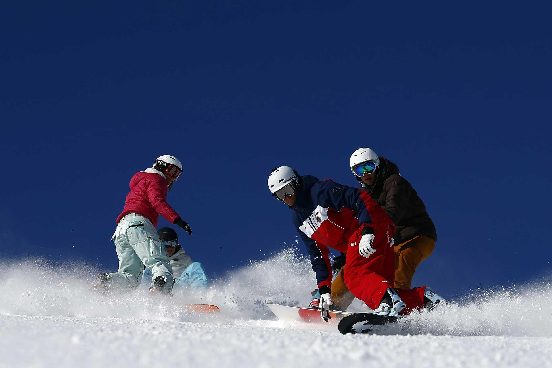 snowboard en cours collectifs