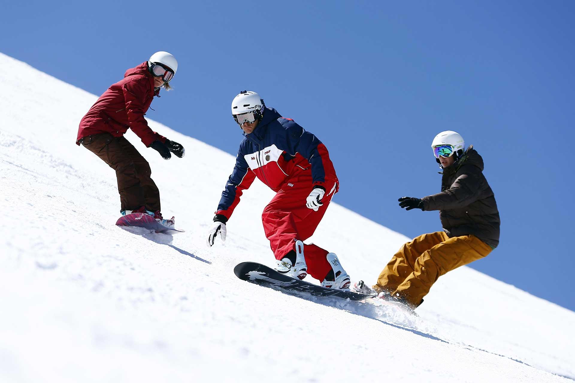 snowboard avec l'esf du schnepfenried